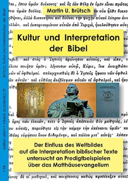 Cover Kultur und die Interpretation der Bibel